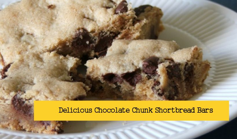 Chocolate Chunk Shortbread Bars